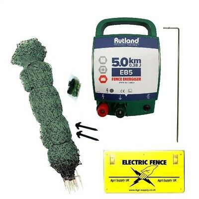 ELECTRIC CHICKEN NETTING KIT - Energiser Green Poultry Dual Power 50m Net Hens