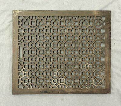 Antique Cold Air Return Heat Grate Register Gothic Vent Old Vintage 26x22 987-16