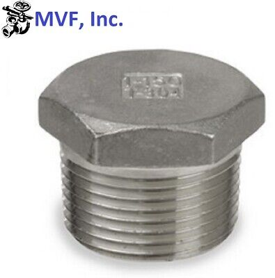 """Plug 150# 304 Stainless Steel 3/4"""" Npt Brewing Pipe Fitting  854.wh"""