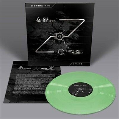 DIE KRUPPS vs. FRONT LINE ASSEMBLY The Remix Wars: Strike 2 LP GREEN VINYL 2016