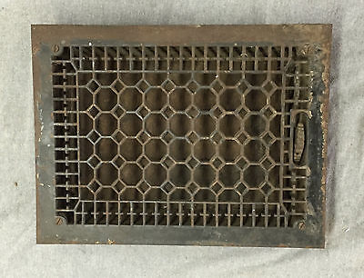 Antique Cast Iron Heat Grate Vent Register Old Hardware Honeycomb 10x14 992-16