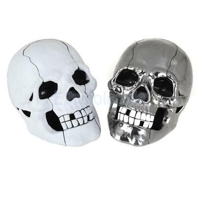 Novelty Skull Head Shaped Wired Telephone Flashing Eyes Home Table Phone