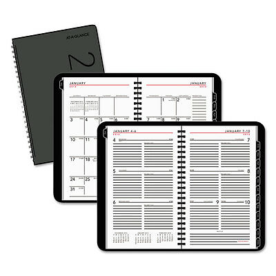 At-A-Glance Contemporary Weekly/Monthly Planner Weekly: Block 4 7/8 x 8 White