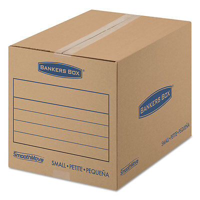 Bankers Box SmoothMove Basic Small Moving Boxes 16l x 12w x 12h Kraft/Blue 25/BD