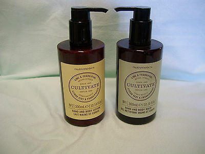 Nutrimetics, Cultivate Hand and Body lotion and wash Lime and Frangipani