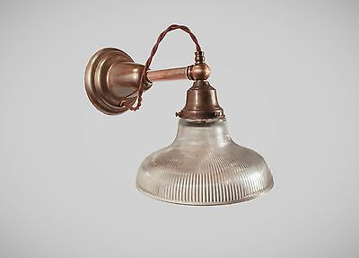 Early Electric Antique Victorian Wall Sconce - Vintage Industrial Lamp Steampunk