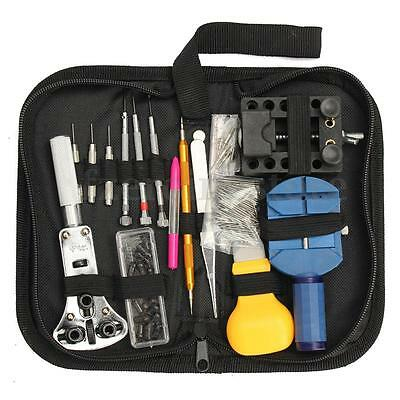144Pcs Watchmaker Watch Repair Kit Set Watch Back Case Openeing Tools Remover
