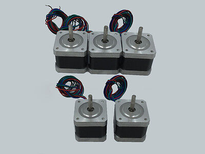 Nema17 Stepper Motor 0.4Nm 57oz.in 1.3A 4wire for RepRap Prusa 3D Printer Robot
