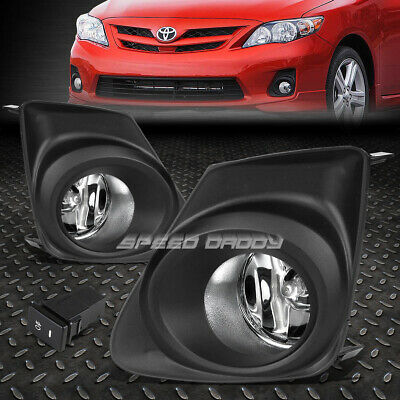 For 11-13 Toyota Corolla Clear Lens Oe Bumper Driving Fog Light+Bezel+Switch