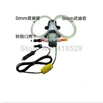 12V Oil Extractor Transf oil Pump Diesel Fuel Oil Engine powered by car battery