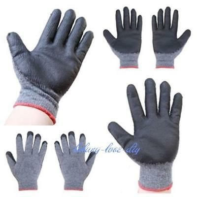 1pair PREMIUM Gray Latex Rubber Palm Coated Work Safety Gloves - LD