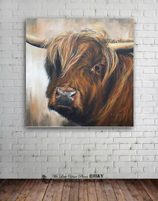Yak Animals Stretched Canvas Print Framed Wall Art Home Office Decor Painting