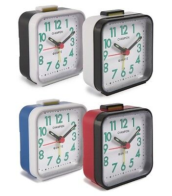 Champion High Quality Basic Alarm Clock Green luminous Hands/ Colours