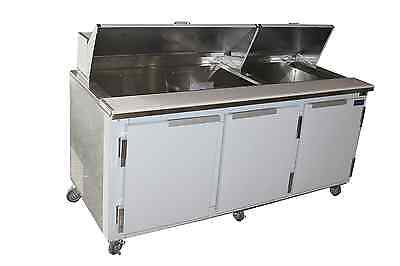 """Coolman Commercial Refrigerated Sandwich Prep Table  72"""""""