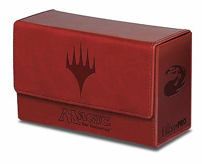 Ultra Pro Red Mana Dual Flip Box for Magic the Gathering Cards Brand New 86191