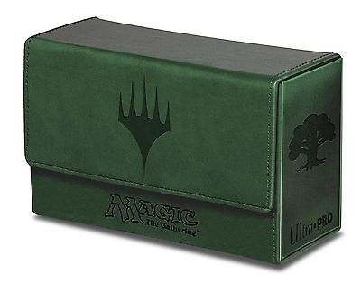 Ultra Pro Green Mana Dual Flip Box for Magic the Gathering Cards Brand New 86192