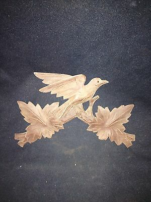 "1930's 10"" Carved Wood Bird Pediment"