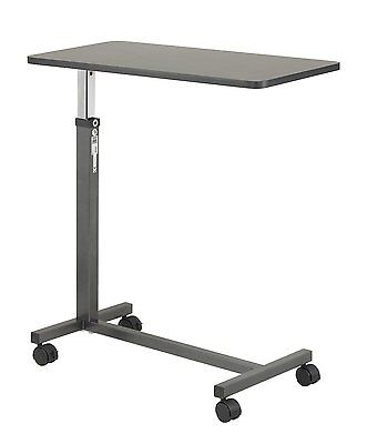 NEW Drive Medical Non Tilt Top Overbed Hospital Bed Table, Silver Vein,