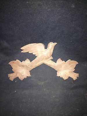 "1930's 11 1/2"" Carved Wood Bird Pediment"