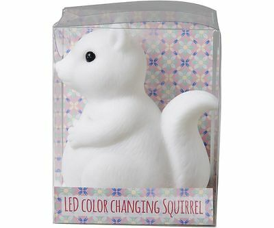 "BRAND NEW ""RICE"" BRAND Colour Changing LED Squirrel Lamp Childrens Night Light"