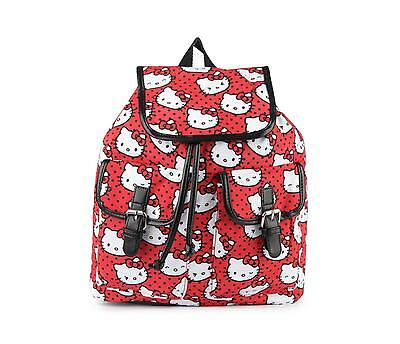 NWT Loungefly Hello Kitty Red Polka Dot All Over Print Faces Backpack