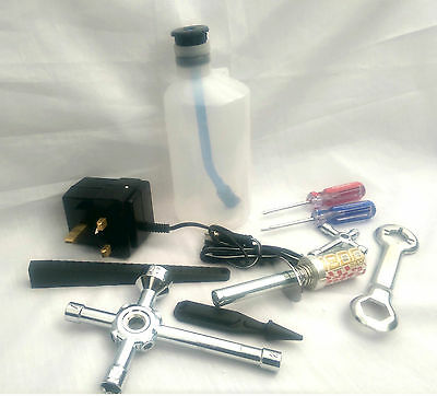 FS RC Car Buggy Nitro Starter Kit Set Glow Starter UK Charger Fuel Bottle Tools
