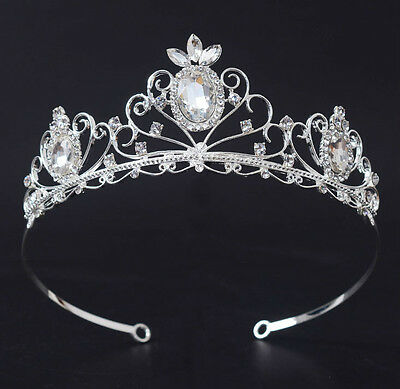 Lovely Oval Crystal Adult Girl Wedding Bridal Party Pageant Prom Tiara Crown