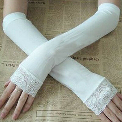 2 Pair Cooling Sport Arm Stretch Sleeves Sun UV Protection Covers Golf Cycling w