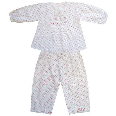 100% Cotton Pyjamas - Maudie - Polka Dot & Roses - Powell Craft - Ages 2-9
