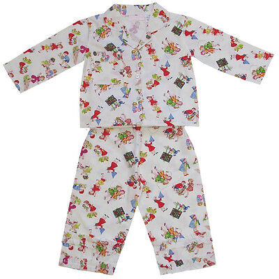 100% Cotton Pyjamas - Sam - Girls at Play - Powell Craft - Ages 2-3