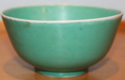 Old Antique Chinese Celadon Porcelain Bowl Marked CHINA