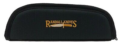 """RANDALL KNIFE CASE with SHEATH STRAPS & EMBROIDERED LOGO - 10"""" BLACK - USA MADE!"""