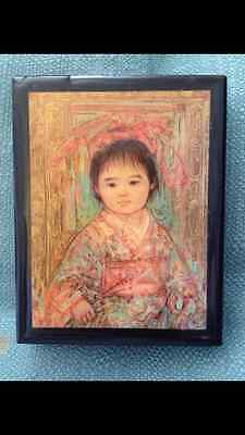 Beautiful Chinese Child painting on Box