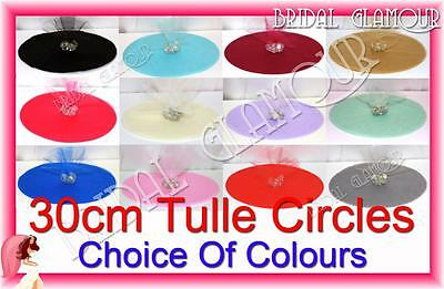 "100pc Tulle Circles 30cm (12"") Bomboniere Wedding Favour Rounds Candy Gift Wrap"