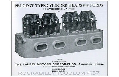 new Hot Rod Poster 11x17 Flathead Ford 4 cylinder overhead valve conversion SCTA