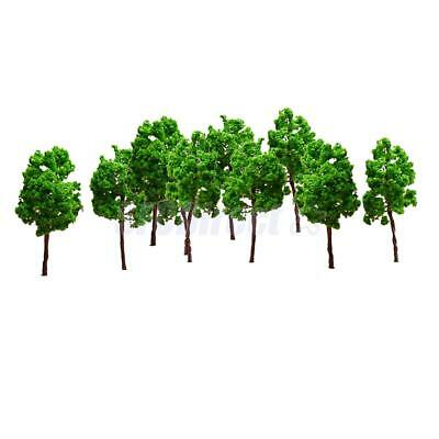 10pcs Green tree model in retail package 1:50 - 1:70 Scale Model RR Trains Decor