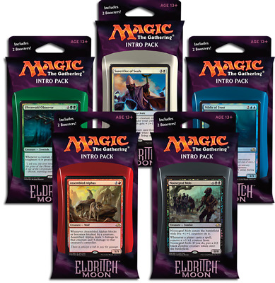 Magic The Gathering Eldritch Moon Intro Pack Whole Set
