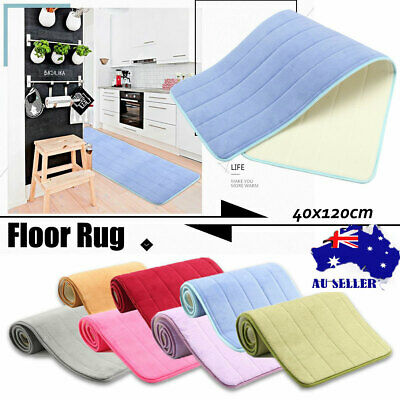 40x120cm Non-Slip Memory Foam Carpet Floor Door Mat Bedroom Kitchen Bath Rug Pad