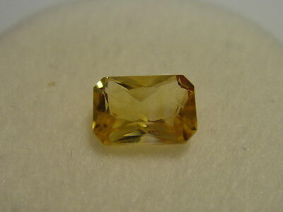 Citrine Emerald Cut Rectangular Cut Gemstone 6mm x 4mm 0.55 carat Gem