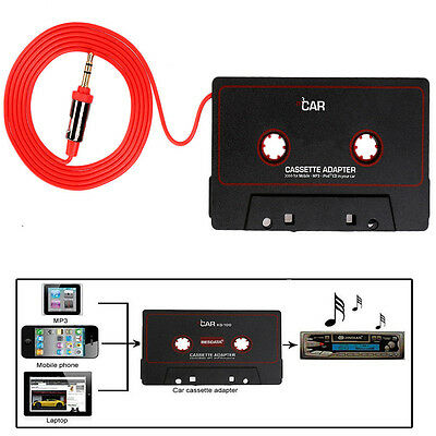 Cassette Car Stereo Tape Adapter for iPod iPhone MP3 AUX CD Player 3.5mm Black