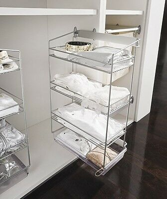 Multiple Tier Pull Out Chrome Baskets, Wardrobe or Kitchen Units - 2 and 3 Tier