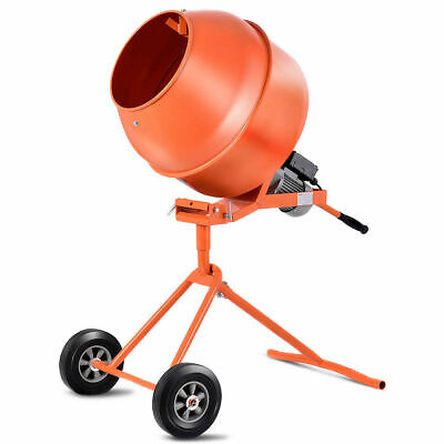 Portable 5Cuft Electric Concrete Cement Mixer Barrow Machine 1/2HP Mixing Mortar