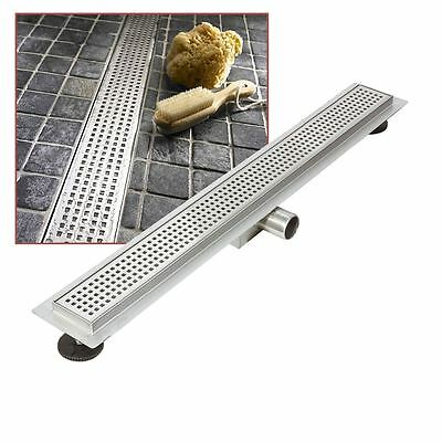 """900mm Stainless Steel Long """"Rectangular"""" Wetroom / Shower Drainage System"""