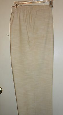 Alfred Dunner Woman's Plus Size Stretch Pants Linen 20 NWT