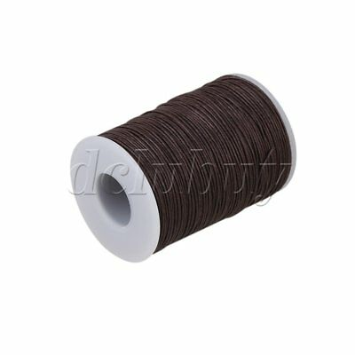 0.7mm Natural Hemp Waxed Thread Round Cord Strong Handwork Leather Craft Sewing