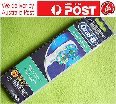 3 Pcs Genuine Oral B Dual Clean Replacement Toothbrush Heads
