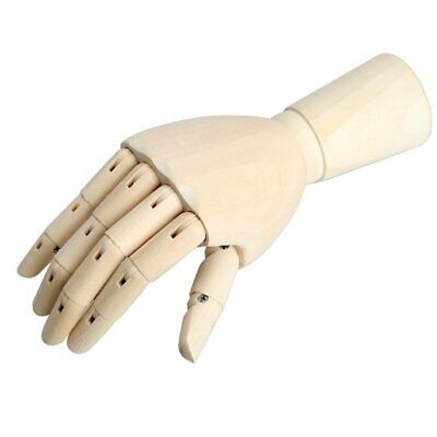 "Wooden Hands Mannequin Left Right 8"" / 12"" Artist Drawing Movable Finger Joints"