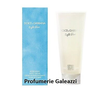 D&G DOLCE E GABBANA LIGHT BLUE POUR FEMME REFRESHING BODY CREAM - 200 ml