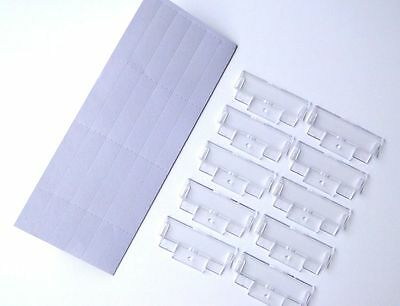 50 Suspension File White Inserts & Clear Plastic Tabs Filing Index