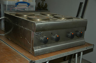 Lincat Electric Catering Stainless Steel 4 ring Hob - untested